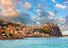 Scilla, Tropea and Nicotera are attractive towns and resorts on the Tyrrhenian coast to the north of Reggio with the resort of Tropea in particular dramatically located on cliffs above the sea