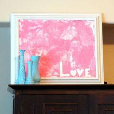 Tape resist Valentine finger painting - love it!
