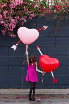 DIY: Giant Cupid's Arrow Balloons