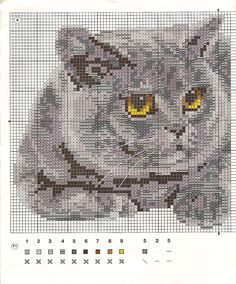 57 ideas for embroidery patterns cat free crochet Cat Cross Stitches, Cross Stitch Bird, Beaded Cross Stitch, Cross Stitch Animals, Cross Stitch Charts, Cross Stitch Designs, Cross Stitching, Cross Stitch Embroidery, Cross Stitch Patterns
