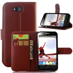 Free Shipping Flip case ZTE Wallet Style PU Leather Case ZTE Blade Q Lux 4G 4.5 inches with Stand Function and Card Holder