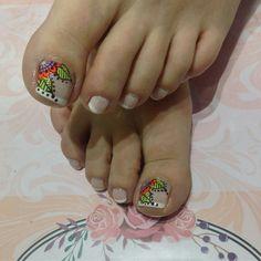 Feet Nail Design, Toe Nail Designs, Purple And Pink Nails, Pedi Perfect, Summer Toe Nails, Manicure Y Pedicure, Feet Nails, Pretty Hands, Toe Nail Art