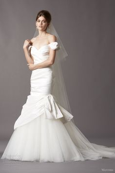 watters wedding dresses 2014 bridal 4036b trudie silk taffeta gown