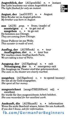 German for all Deutsch für alle: 13 German Grammar, German Words, German Language Learning, English Language, Learn German, Learn English, Deutsch Language, Language Dictionary, German English