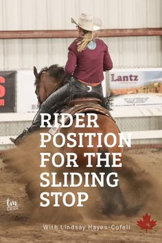 I'm breaking down the rider position for one of my favourite reining maneuvers. If you've been wondering how to ride the sliding stop or where your body part. Trail Riding Horses, Horse Riding Tips, Horse Tips, Horse Barns, My Horse, Horse Stalls, Ranch Riding, Horse Training, Training Tips