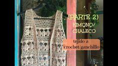 Kimono/Chaleco Tejido a Croche   (parte2) (las mangas)