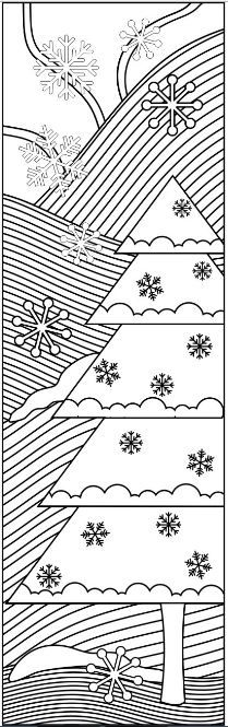 9 Christmas Coloring Bookmarks 6 designs with by RicLDPArtworks - copy christmas coloring pages cats