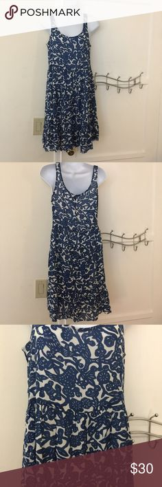 Lucky Brand dress So pretty.  Blue flowers and birds Lucky Brand Dresses Midi