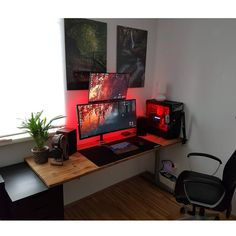 """166 Likes, 1 Comments - Mal - PC Builds and Setups (@pcgaminghub) on Instagram: """"An awesome minimalistic setup! I love the grain in that desk.  By: u/simon_D0.  Check out the link…"""""""