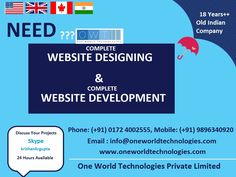 Need Complete Web designing and Complete Web Development Company Services in USA, UK, CANADA ?? Check Image And Contact Soon ... We have big discount offer for small and big Enterprises web development services. So contact soon.