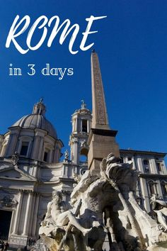 #Rome #Italy #Travel #itinerary #traveltoitaly #rometravel #traveltips 3 days in Rome itinerary: my local guide to what to see during your first visit to the Eternal city if you only have 3 days in Rome. What to see, how to get organised and how to get around to make the most of 3 days in Rome
