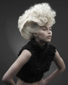 I would do this for halloween and have my hair temp. Creative Hairstyles, Up Hairstyles, Crazy Hair, Big Hair, Runway Hair, Def Not, Extreme Hair, Editorial Hair, Fantasy Hair