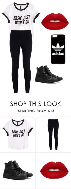 """set trender"" by royalty-fashion-love-gymnastics ❤ liked on Polyvore featuring H&M, NIKE, Converse, Lime Crime and adidas"