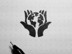globe hand logo - Google Search