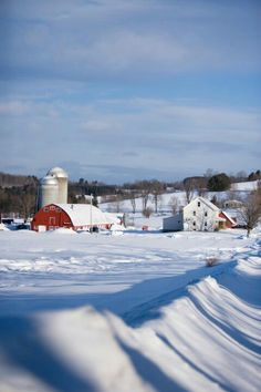 Sending warm winter wishes from the farm family owners of Cabot. Winter Snow, Winter White, Deep Winter, Maine New England, Lake Champlain, Winter Photos, Snow Scenes, Old Farm, Covered Bridges