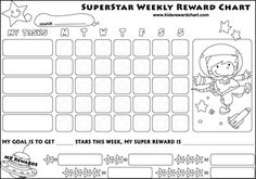 Printable Reward Charts for Kids and Positive Behavior