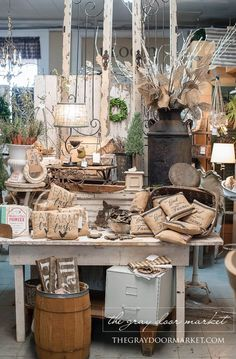 Spring open house at olde tyme marketplace antique booth ideas, antique mall booth, antique Antique Booth Displays, Antique Booth Ideas, Antique Mall Booth, Vintage Display, Antique Stores, Vintage Store Displays, Flea Market Displays, Flea Market Booth, Flea Markets