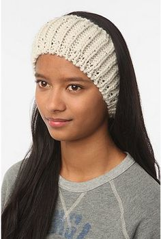 Pins and Needles Beaded Ear Warmer