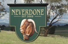Neverdone Farm Sign / Danthonia Designs