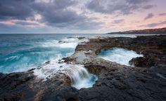 Colores unicos de mar y cielo para una preciosa toma del famoso Bufadero de #GranCanaria - Foto de Juan A. Del Pino
