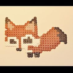 Fox perler beads by parlplattan_webshop