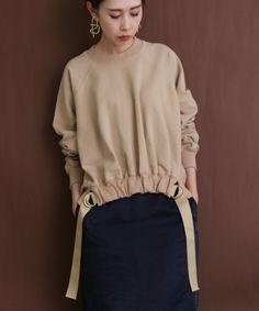 レディース|URBAN RESEARCH公式ファッション通販 Fashion Details, Look Fashion, Hijab Fashion, Girl Fashion, Fashion Dresses, Womens Fashion, Fashion Design, Sweatshirt Dress, Hoodie