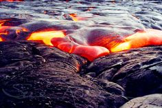 Kilauea Volcano Landscape Photography - Fine Art Photo - Big Island Hawaii Heart Lava Flow - Nature Photography - Goddess Pele - Photograph. $18.00, via Etsy.