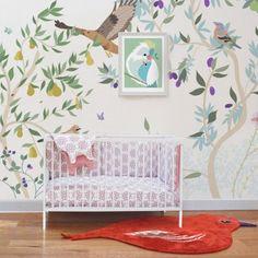 Papier peint décor Verger 300x350 cm Multicolore  Little Cabari