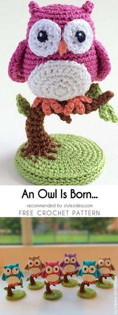 An Owl Is Born Free Crochet Pattern #freecrochetPatternsamigurumi #amigurumiowl #freepatterns #amigurumiforanimals