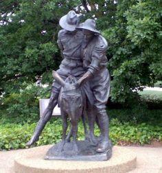 "Australian War Memorial ""mates helping each other"" sculpture in memory of Simpson (John Simpson Kirkpatrick) and his donkey, Gallipoli."