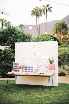 A custom backdrop for an escort card station made by Back Up Backdrops | Love Inc. Mag | photo by Gideon Photo