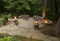 Backyard patio and fire pit designs outdoor fire pit patio ideas design and Propane Patio Fire Pit, Fire Pit Backyard, Backyard Fireplace, Outdoor Fireplaces, Gazebo, Pergola Patio, Fire Pit Gallery, Fire Pit Landscaping, Landscaping Ideas