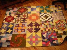 Scrappy orphan block quilt... I have no idea when I made this one...