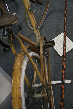 Wooden bicycle detail by silvermeat, via Flickr