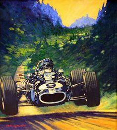 Barry Rowe Fine Automobile Art.