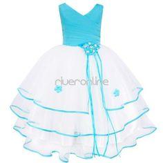 Petals-Flower-Girls-Kid-Sleeveless-Wedding-Bridesmaid-Party-Princess-Dress-4-14Y