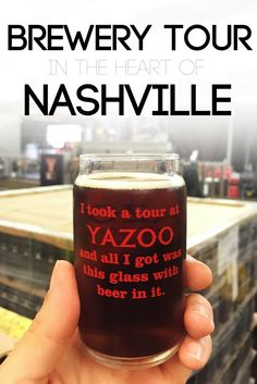 One of my favorite ways to get to know a city is to drink its local beer! It doesn't get more Nashville than Yazoo Brewing Company. Don't miss their tour on your next visit to Nashville.