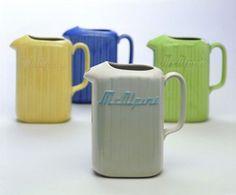 Crown Lynn fridge jugs that inspires the Retro Lynn Fridge jugs of today.. at www.themotelshop.co.nz Vintage Textiles, Vintage Antiques, Vintage China, Retro Vintage, Swedish Design, Mid Century House, Mid Century Design, Ceramic Pottery, Homemaking