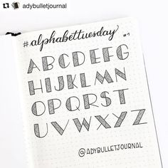 #Repost @adybulletjournal with @repostapp ・・・ #planwithmechallenge Day 4 : Any spread --------  Someone asked me if I had a view of the whole alphabet for this font... here it is! And what about an #alphabettuesday? Every Tuesday, I'll post a picture like this one, with the whole alphabet of a font. You can send me suggestions if you want  --------  Quelqu'un m'a demandé si j'avais un exemple d'alphabet complet pour cette police d'écriture : maintenant oui! Vous penseriez quoi d'un #al