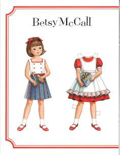Betsy McCall Paper Dolls inside of McCalls magazine.