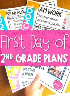 Lesson plans for the first day of school including resources/read alouds perfect for 1st-3rd grade
