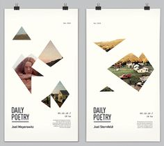 Daily Poetry by Clara Fernández, via Behance  interesting break up of images