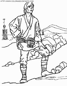 Analkin Skywalker Star Wars Coloring Page