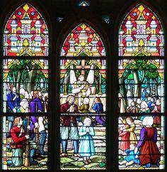 Le vitrail de l'abbé Girard à Saint-Georges-de-Montaigu (85)