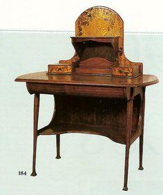 Bureau à écrire français vers 1900. Fabrique de Louis Majorelle à Nancy