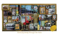 Kentucky Derby THROUGH THE YEARS Nostalgic Memorabilia Collage Poster Print - available at www.sportsposterwarehouse.com