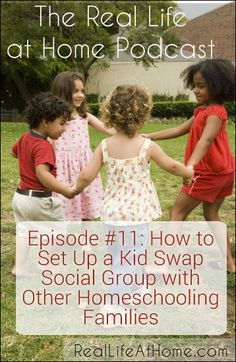How to Set Up a Kid Swap Social Group with Other Homeschooling Families.  This made my homeschooling go more smoothly while we were doing this because it gave me a little down time here and there.