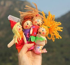 4Pcs1 Set New Arrival Kids Baby Toys Funny Finger Doll Pretty Little Mermaid Christmas Animal Finger Puppet Finger Toy -- Check this awesome product by going to the link at the image.