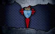 Descargar fondos de pantalla Celta de Vigo, 4k, La Liga, el fútbol, el Celta emblema, logotipo, Vigo, España, club de fútbol, metal, textura grunge