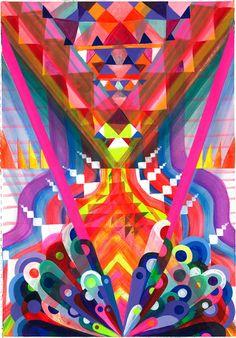 Maya hayuk art art, geometric art и illustration art Maya Hayuk, Graffiti, Street Art, Geometric Art, Bunt, Modern Art, Contemporary Artists, Art Photography, Abstract Art